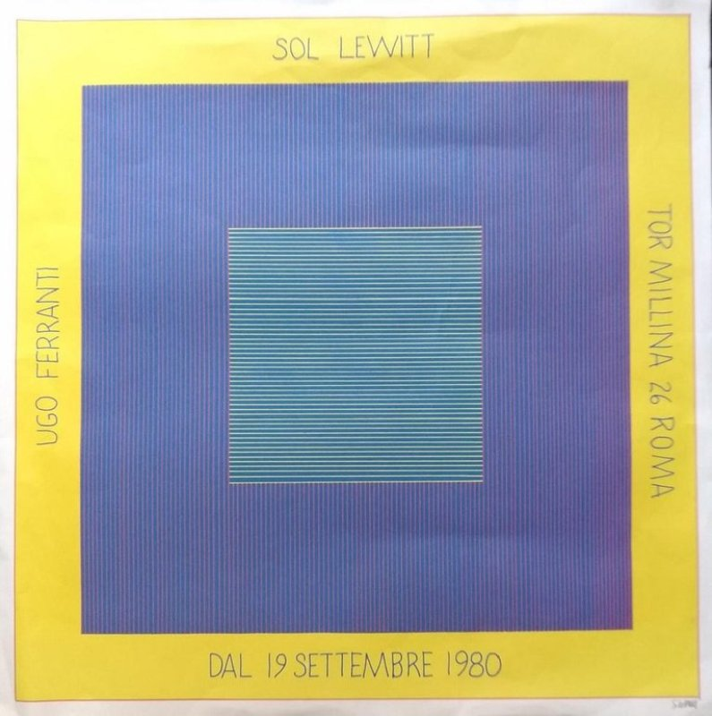 main work - Sol LeWitt, Sol Lewitt's Exhibition Poster