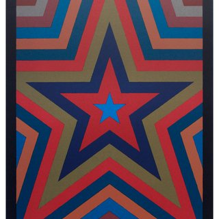 Sol LeWitt, Five Pointed Star with Color Bands