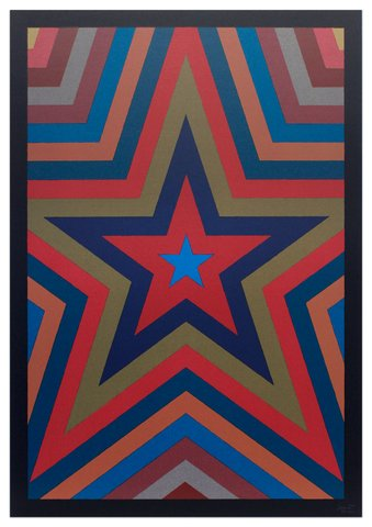Sol LeWitt - Five Pointed Star with Color Bands