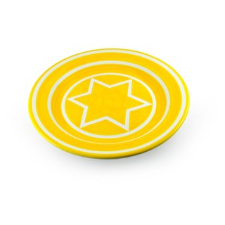 Sol Lewitt 6-Point Star Platter: Yellow art for sale