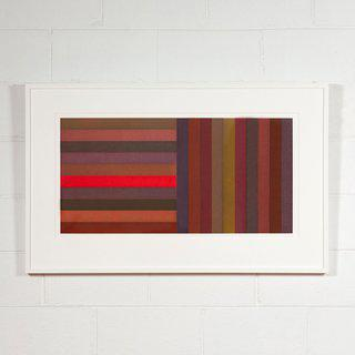Horizontal Color Bands and Vertical Color Bands: Red (Plate #2) art for sale