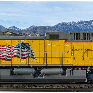 "Passing Freight, ""UA6658 Locomotive"" art for sale"