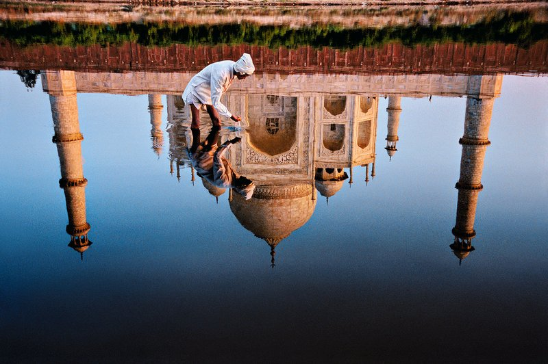 by steve_mccurry - Man and Taj Reflection