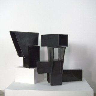 Structure VII - Black art for sale
