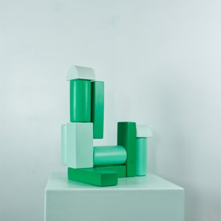 Building Block - Green art for sale