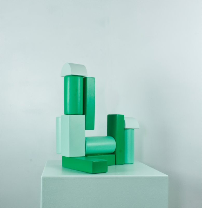 by sydney-williams - Building Block - Green