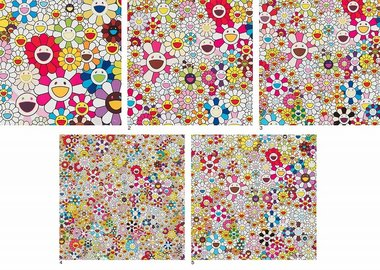 work by Takashi Murakami - Flowers Blooming in this World and the Land of ...