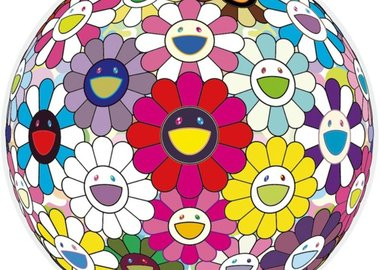 work by Takashi Murakami - Flowerball: Open Your Hands Wide