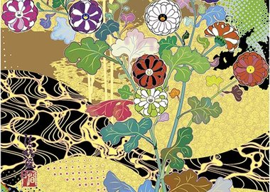 work by Takashi Murakami - Time of Celebration