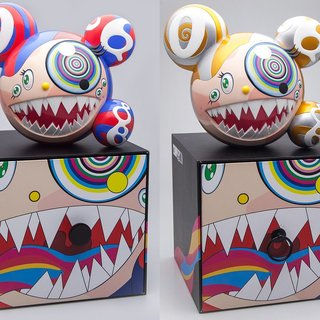 Takashi Murakami, Mr DOB Figure By BAIT x SWITCH Collectibles - Set of 2 (Gold & Red)
