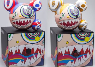 Takashi Murakami - Mr DOB Figure By BAIT x SWITCH Collectibles - Set of 2 (Gold & Red)