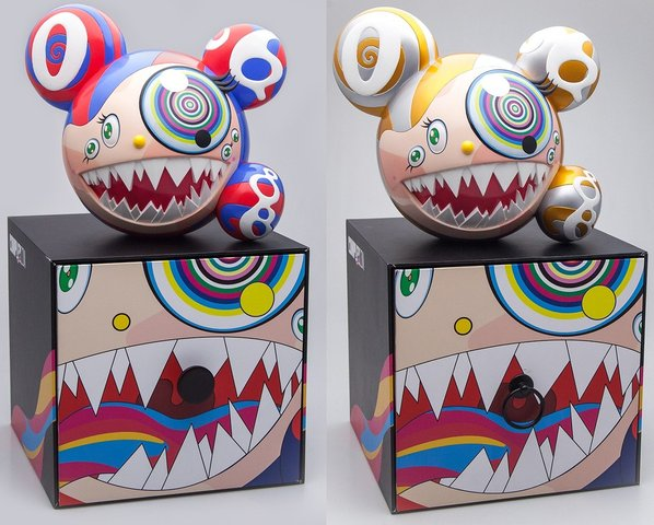 Takashi Murakami - Mr DOB Figure By BAIT x SWITCH Collectibles - Set of 2 (Gold & Red), Sculpture
