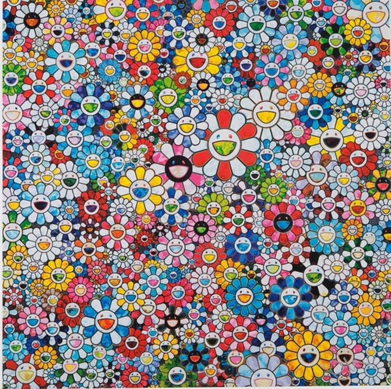 Takashi Murakami Flowers With Smiley Faces For Sale Artspace