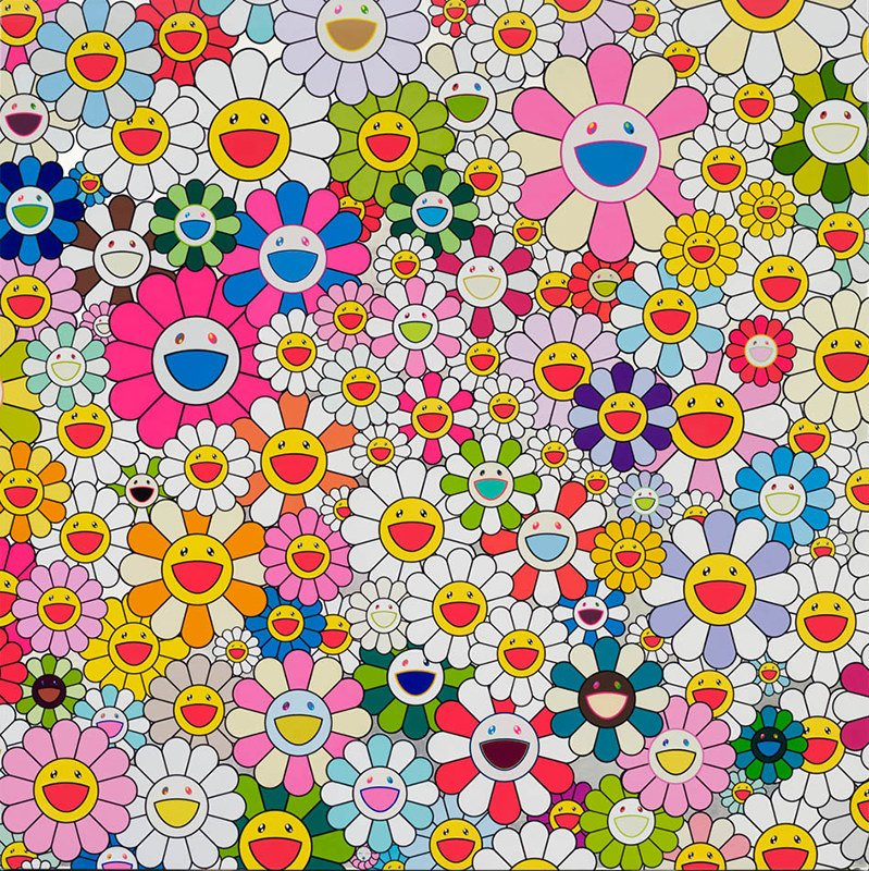 Takashi Murakami Maiden In The Yellow Straw Hat For Sale