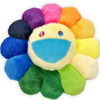 Takashi Murakami, Flower Pillow Rainbow and White - 60cm