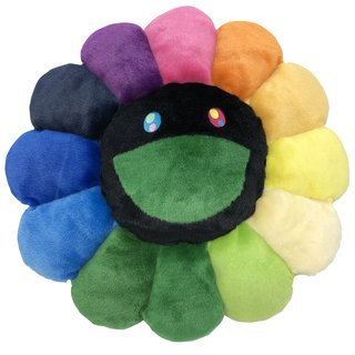 Flower Pillow Rainbow and Black - 1 meter art for sale
