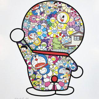 Doraemon In the Field of Flowers art for sale