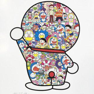 Mr. Fujiko F. Fujio and Doraemon Are in the Field of Flowers art for sale