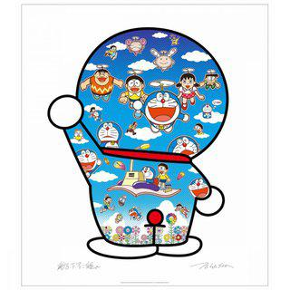 Doraemon and Friends Under the Blue Sky art for sale