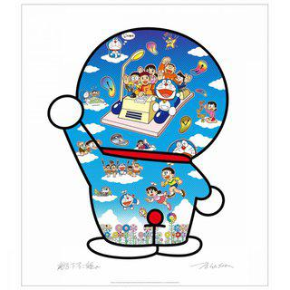 Doraemon, Let's Go Beyond These Dimensions on a Time Machine with Master Fujiko F. art for sale