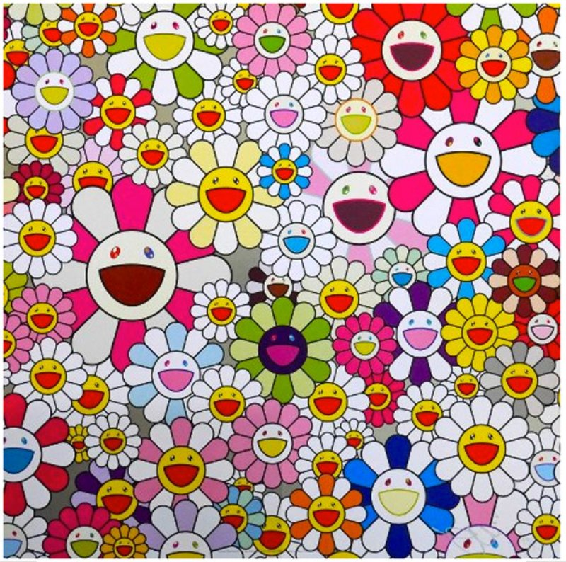 Takashi Murakami Flowers Blooming In The World And The Land Of