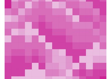 work by The Bruce High Quality Foundation - Mosaic Mountain Print Magenta