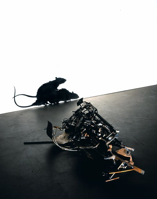 Tim Noble & Sue Webster, Metal Fucking Rats (version 2)