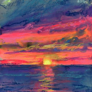 Great South Bay Sunset 8/9/19 art for sale