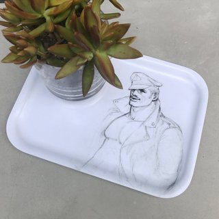Tom of Finland, Leatherman Wooden Trays (Set of 2)