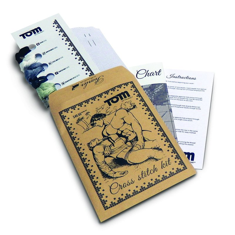 1ec6c90ff8 Tom of Finland - Shipwrecked Cross-stitch Kit, #1-4 for Sale | Artspace