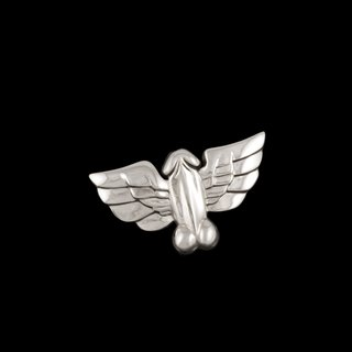 Tom of Finland, Jonathan Johnson x Tom of Finland FLYING COCK Sterling Silver Brooch