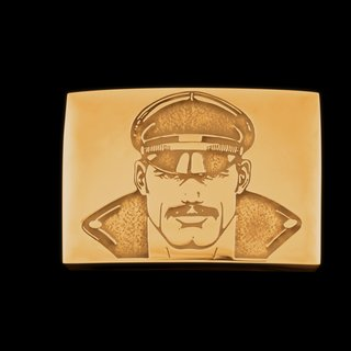 Tom of Finland, Jonathan Johnson x Tom of Finland KAKE Belt Buckle in 23kt Gold Plated Brass