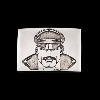 Tom of Finland, Jonathan Johnson x Tom of Finland KAKE Sterling Silver Belt Buckle