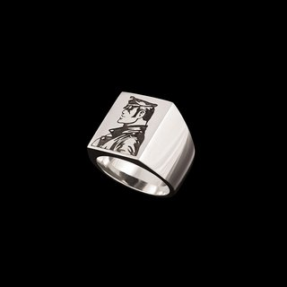 Tom of Finland, Jonathan Johnson x Tom of Finland KAKE Sterling Silver Ring