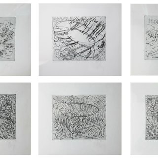 6 etchings for the Hamburger Griffelkunst Vereinigung art for sale