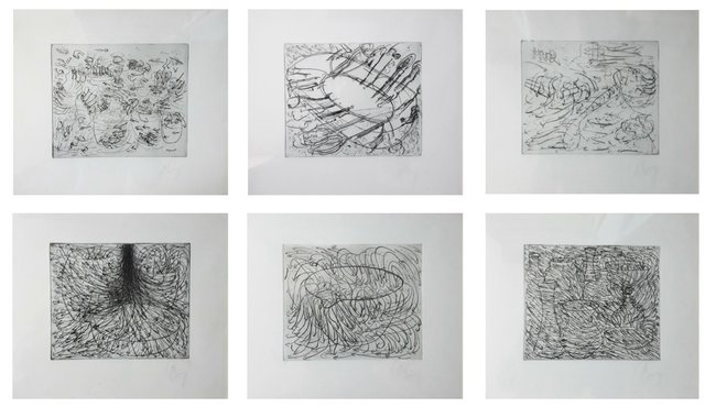 Tony Cragg - 6 etchings for the Hamburger Griffelkunst Vereinigung