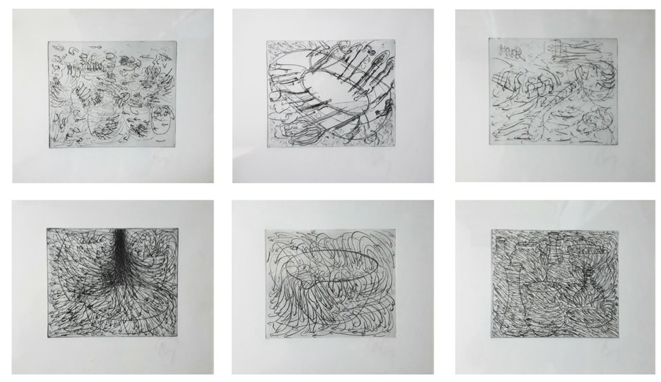 Tony Cragg, 6 etchings for the Hamburger Griffelkunst Vereinigung