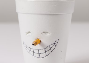 work by Tony Tasset - Cup Face
