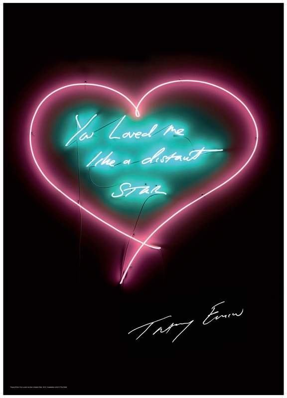 by tracey_emin - You Loved Me Like a Distant Star