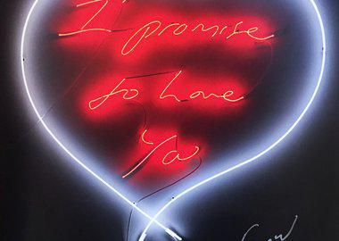 work by Tracey Emin - I Promise To Love You
