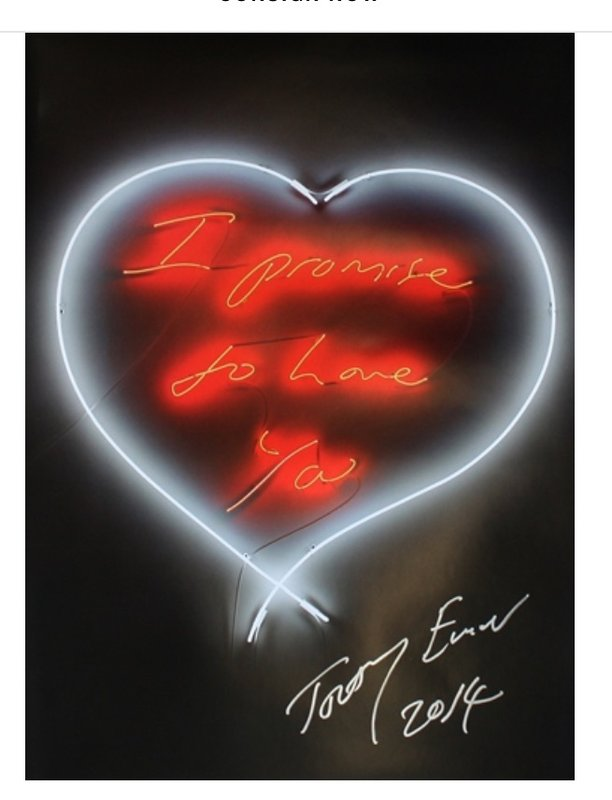 by tracey_emin - I Promise To Love You