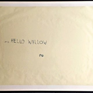 Hello Willow (unique work created for the daughter of Warhol Foundation agent Tim Hunt and author Tama Janowitz) art for sale