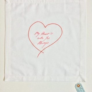My Heart Is With You Always (Red/ Pink) - Napkin art for sale
