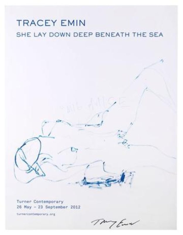 Tracey Emin, She Lay Down Deep Beneath The Sea
