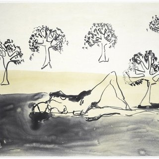 Laying with the Olive Trees art for sale
