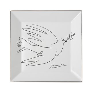 Pablo Picasso, Square plate The Dove