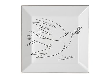 work by Pablo Picasso - Square plate The Dove