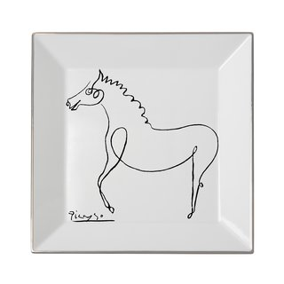 Square plate The Horse art for sale