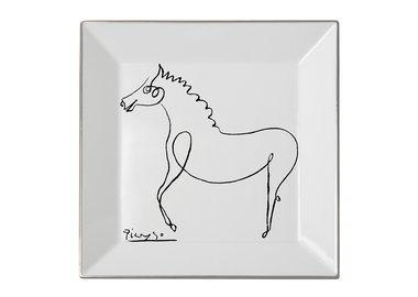 work by Pablo Picasso - Square plate The Horse