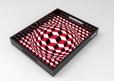 work by Victor Vasarely - VP Cheyt Tray